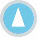 abstract, arrow, cone, creative, up icon