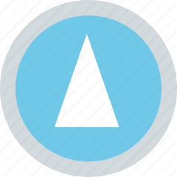 abstract, arrow, cone, creative, up icon