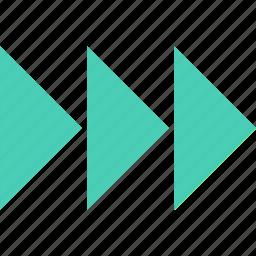abstract, arrow, creative, forward, go icon