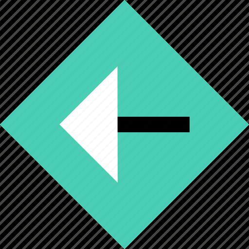 abstract, arrow, creative, left, point icon