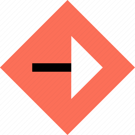 abstract, arrow, creative, point, right icon