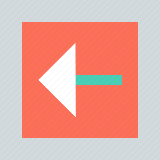 abstract, arrow, back, creative, left, point icon