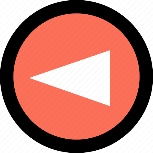 abstract, arrow, cone, creative, left, point icon