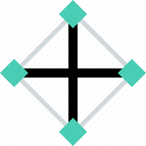 abstract, creative, plus, selection, tool icon