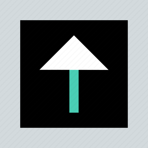 arrow, point, up, upload icon