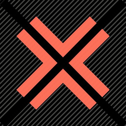 abstract, creative, delete, factor, x icon