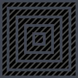 abstract, center, creative, maze icon