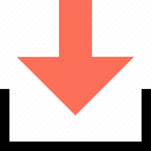 abstract, arrow, creative, down, download icon
