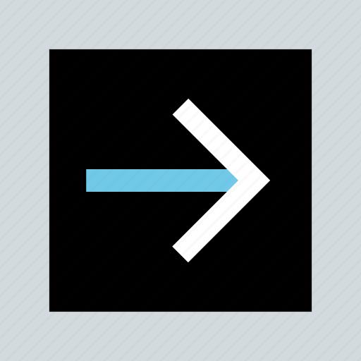 abstract, creative, forward, go, next icon