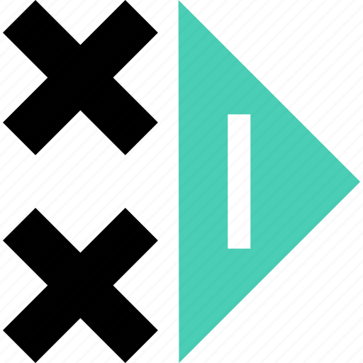 abstract, creative, cross, go, next icon