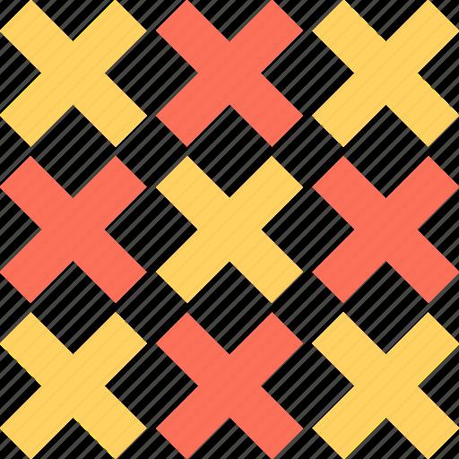 abstract, creative, crosses, design, x icon