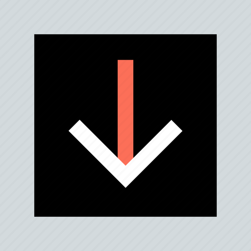 abstract, arrow, creative, down, download, point, pointer icon
