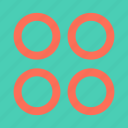 abstract, circles, creative, design, four icon