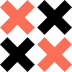 abstract, creative, crosses, four, x icon