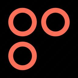 abstract, circles, creative, three icon