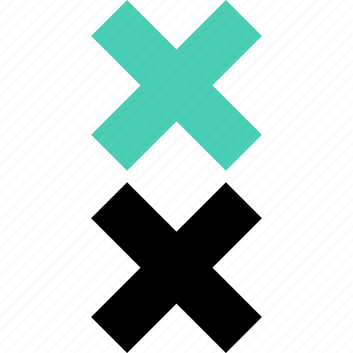 abstract, creative, cross, two, x icon
