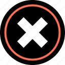 abstract, creative, delete, stop, x icon