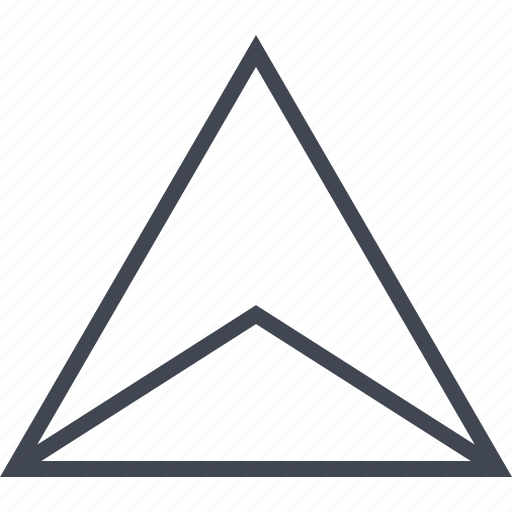 abstract, arrow, creative, design, triangle, up icon