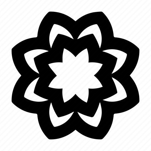 abstract, flower, ornament, symbol icon