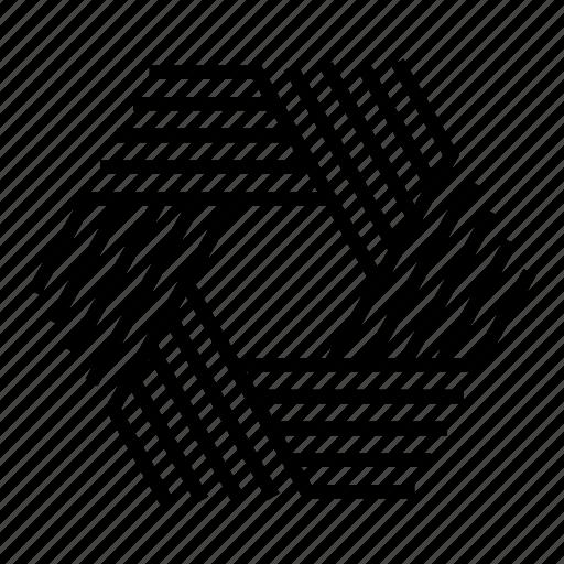 abstract, geometric, geometry, hexagon, lines, shape, symmetric icon