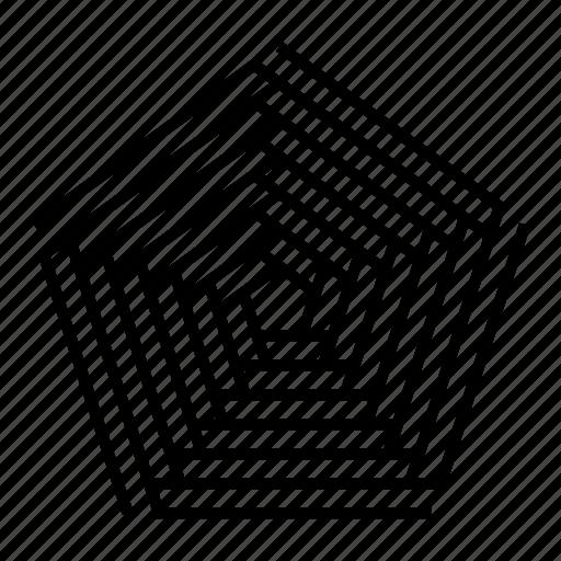 abstract, geometric, geometry, lines, pentagon, shape, symmetry icon