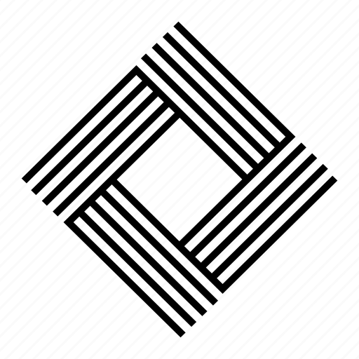 abstract, geometric, geometry, lines, shape, square, symmetric icon