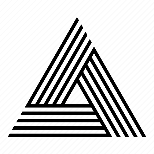 abstract, geometric, geometry, lines, shape, symmetric, triangle icon
