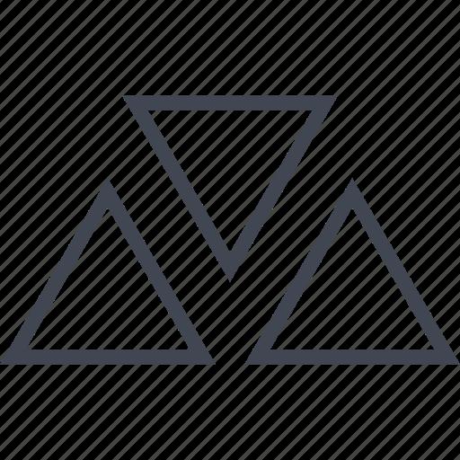 creative, design, three, triangles icon