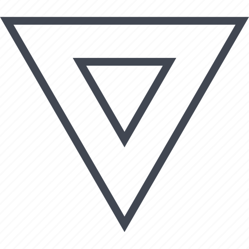 down, point, pointer, triangle icon