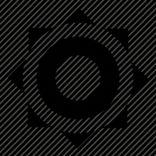 Abstract, circle, logo, shape, sign icon