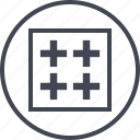 abstract, create, creative, crosses, design, designed icon