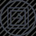 abstract, art, creative, design, forward, right, shape icon