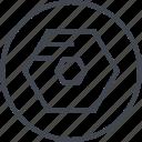 abstract, art, creative, design, hexagon, shape icon