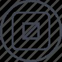 abstract, art, creative, design, shape, target icon