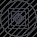 abstract, center, creative, design, puzzle, shape icon