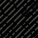 abstract, creative, design, dot, single icon