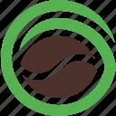 bean, coffee, logo, natural, organic
