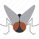 fly, insect, logo icon