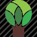 geometric, logo, nature, tree