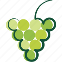 logo, green, grape, vineyard
