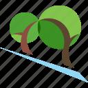 eco, landscape, logo, park, trees icon
