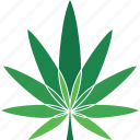 cannabis, leaf, logo, marijuana, plant icon
