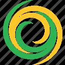 spiral, natural, logo, leaf, spring, wave