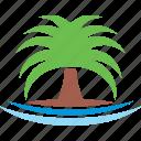 beach, logo, palm, sea, summer, tree