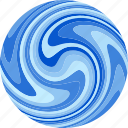 current, flow, globe, planet, water icon