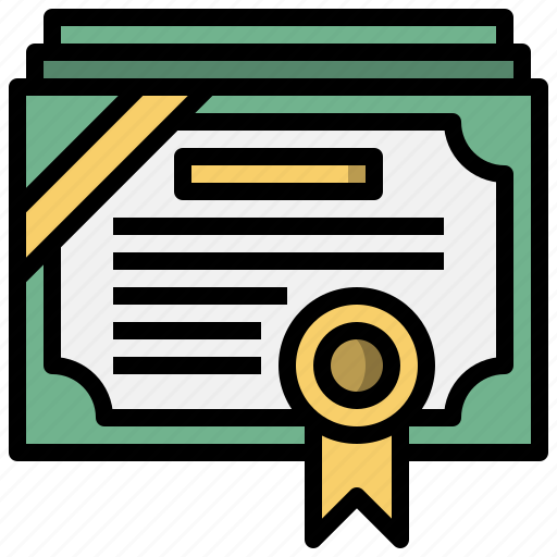 certificate, contract, degree, diploma, education, patent icon