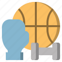 basketball, boxing, dumbbell, gloves, gym, sport, weight icon