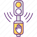 traffic lights, signal, acoustic, traffic lights icon icon