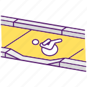 accessibility, dropped kerb, curb cut, dropped kerb icon icon