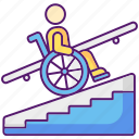 accessibility, accessibility icon, disability, step free access icon